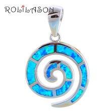 Серебро 925 пробы голубой огненный опал серебряное ожерелье