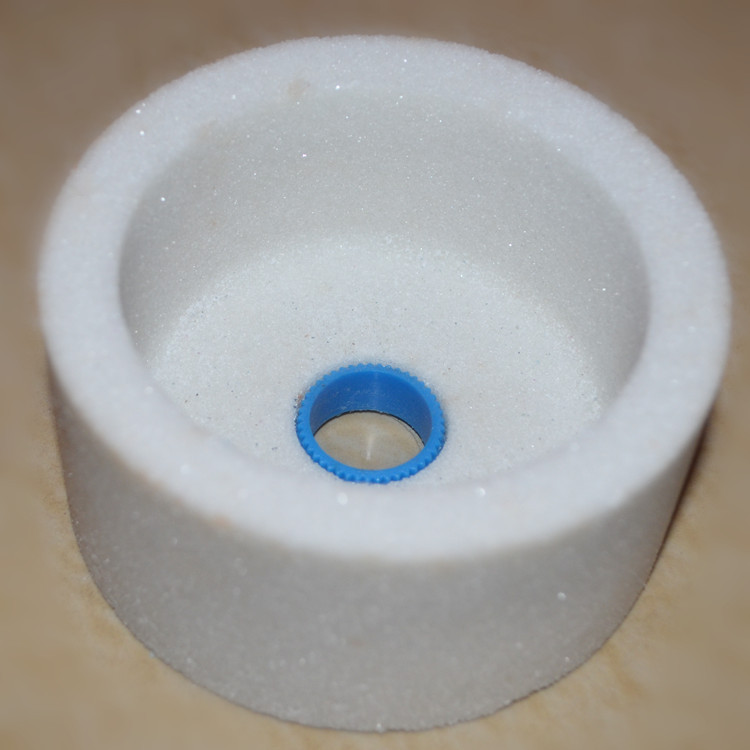 New 100*50*20mm White Alundum Ceramic Cup Type Grinding Wheel Universal Grinding Wheel For Hardened Steel , Gears, Screws, Etc.