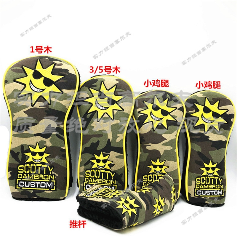 TlTLElST Camouflage Sunglasses Scotty Wood Hybrid Headcovers Tour Shop Cameron Design Scotty Custom HEADCOVER Golf Putter