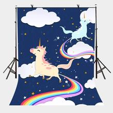 5x7ft Photo Studio Props Cartoon Pony Backdrops Baby Children Theme Photo Photography Background