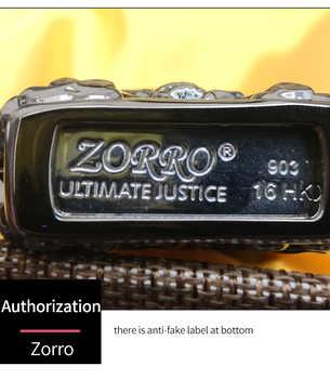 Zorro ไฟแช็กน้ำมันน้ำมัน Skeleton น้ำมันเชื้อเพลิงเบนซินเติมน้ำมันก๊าดไฟแช็กของขวัญกล่อง