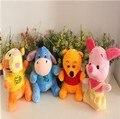 Crianças bebê brinquedo de Pelúcia urso tigre burro brinquedos de pelúcia rosa de algodão boneca de presente de aniversário 18 cm 4pes/lot