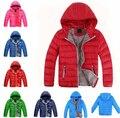 Classic marca retail niños abajo niños Abajo Cubre la chaqueta de algodón acolchado niña sudaderas con capucha ropa de abrigo ropa deportiva ropa de abrigo de invierno