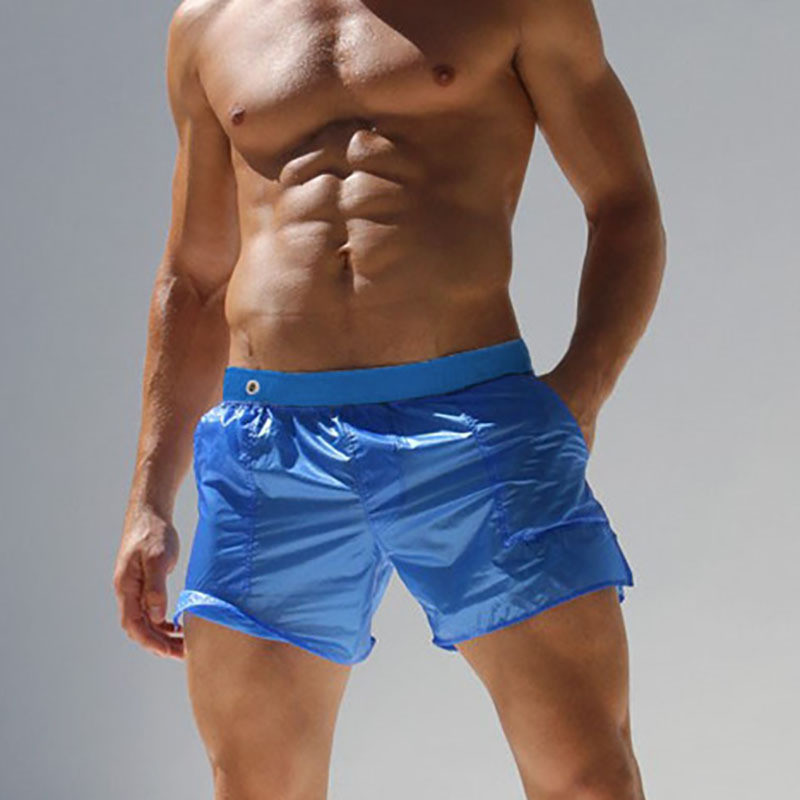 US $10 34 49% OFF|Sexy Transparent Boxers See Through Trunks Men Shorts  Male Beach BoardShorts Elastic Waist Male Casual Bottom Clothing Summer-in