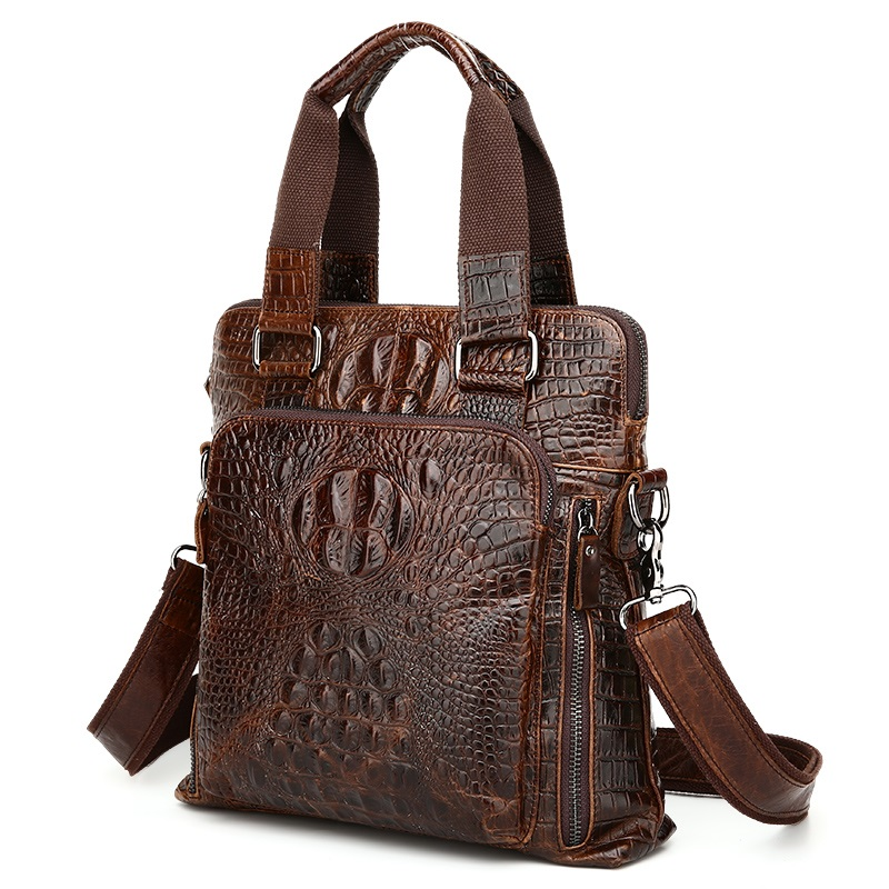 100 Natural Genuine Leather Men Messenger Bags Briefcase Men font b Shoulder b font Handbags Business