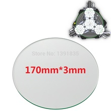 Mini 3d printer Borosilicate Glass plate 170mm 3mm thick Boro Glass top for Rostock delta KOSSEL
