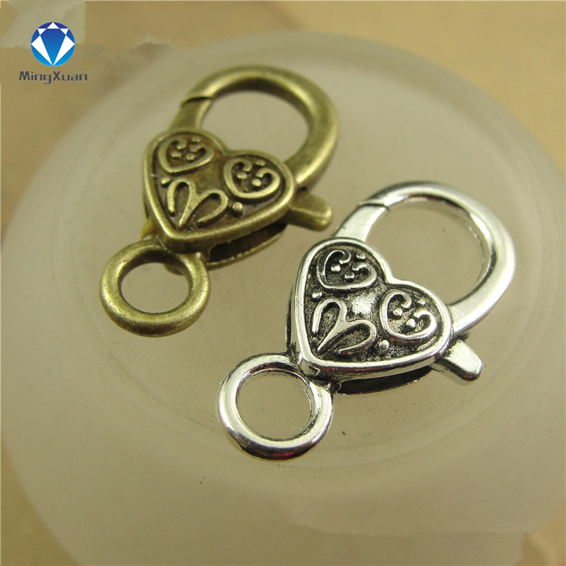 10pcs/lot Antique Silver Monkey Lobster Clasp Hooks For Necklace Bracelet Chain DIY Jewelry Accessory Findings 26*15MM