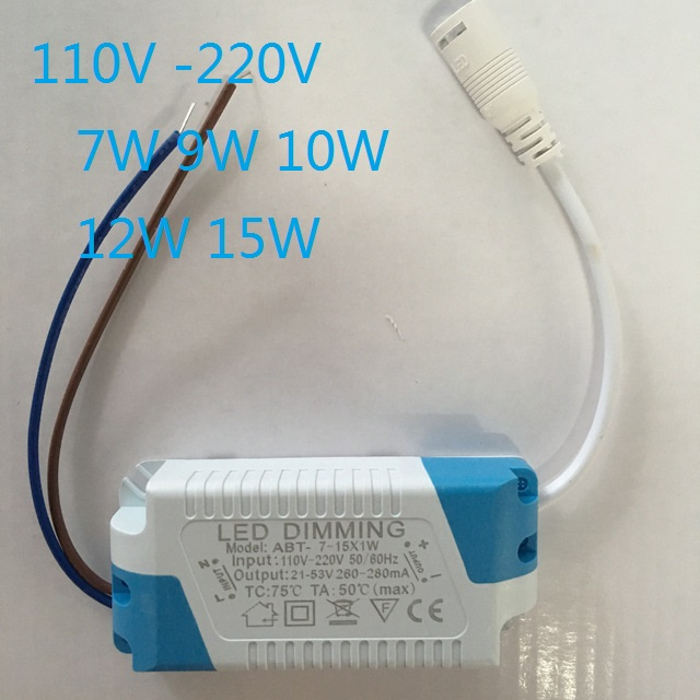 Dimmable 300MA <font><b>Led</b></font> <font><b>Driver</b></font> 7W <font><b>9W</b></font> 10W 12W 15W Power Supply AC 110V- 240V for <font><b>LED</b></font> Ceiling lights Bulb DC Plug image