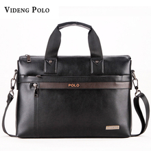 2017 Men Casual Briefcase Business Shoulder pu Leather Bag Men Messenger Bags Computer Laptop Handbag Bag Men's Travel Bags