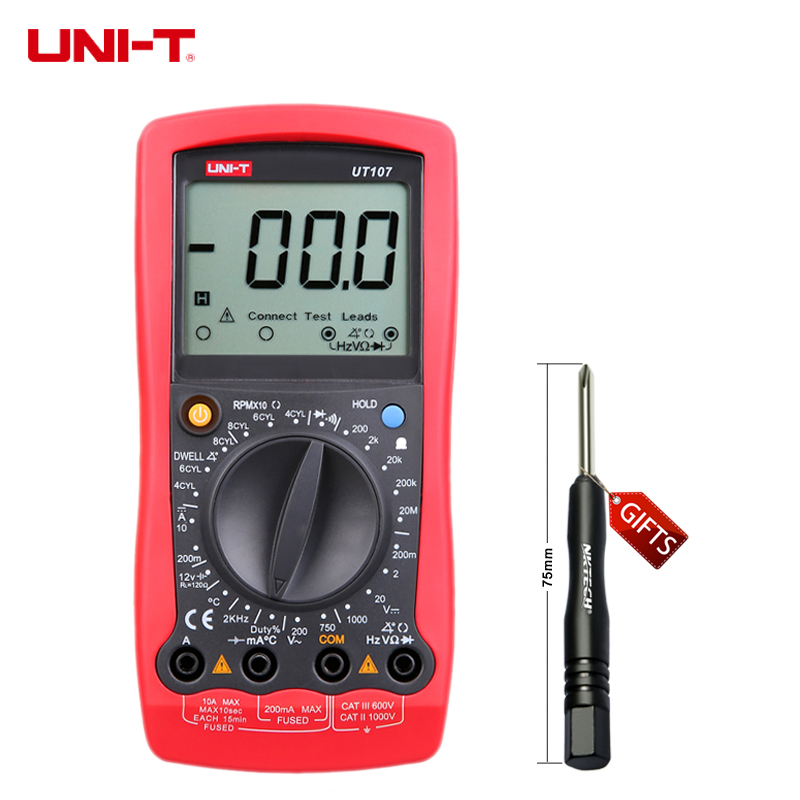 Multimeter For Home : Multimeter uni t ut lcd automotive handheld