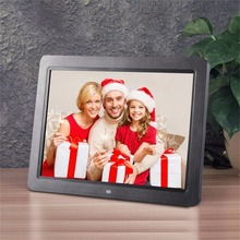 Buy online 12″ Wide Screen HD LED Digital Photo Frame 1280 * 800 Electronic Picture Frame MP3 MP4 Player Clock Built in stereo speakers
