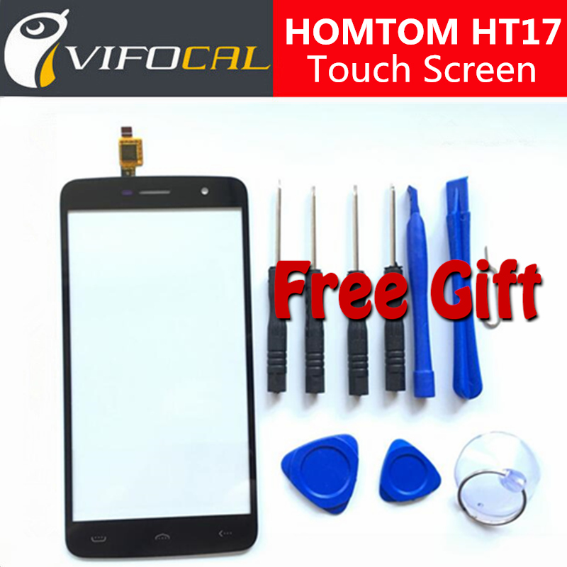 HOMTOM HT17 touch screen + Tools Set Gift 100% New Digitizer Glass Panel Assembly Replacement For HOMTOM HT17 Pro Phone