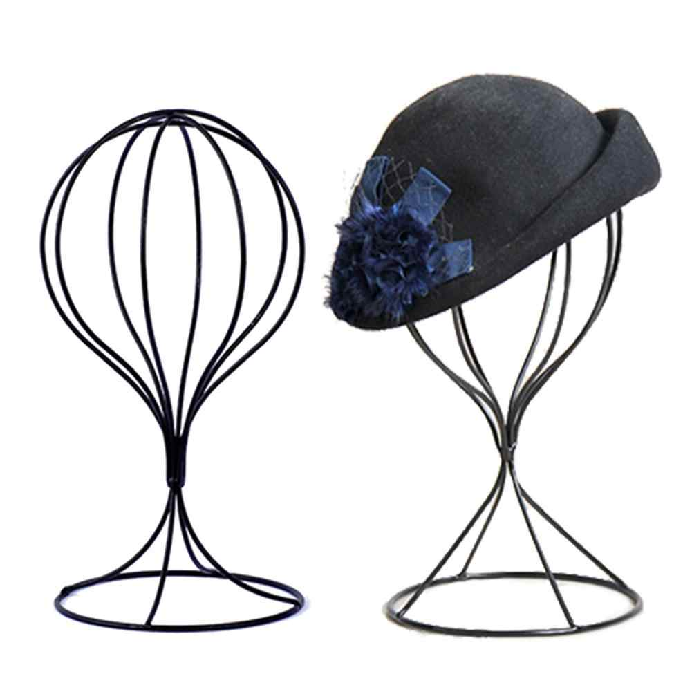 POP ITEM! Hollow Balloon Metal Wig Hairpiece Stand Tabletop Decorative Hat Cap Holder New