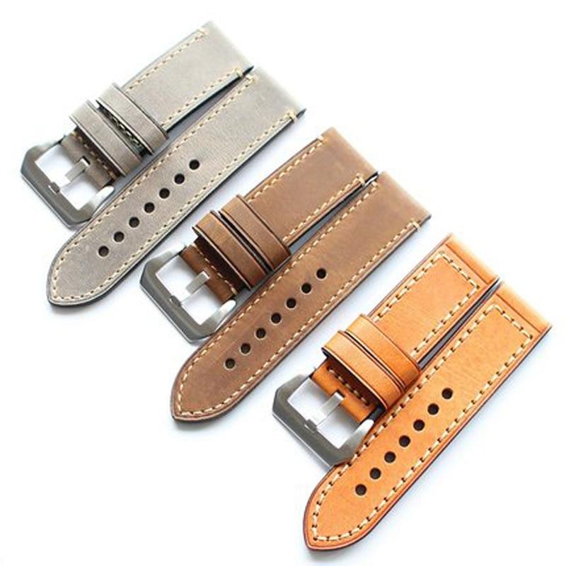 TJP Genuine leather Watchband Smart Strap 26MM Gray Brown Yellow For Garmin Derek Fenix 3 Watchbands Wristband Bracelet Belt rear wheel hub for mazda 3 bk 2003 2008 bbm2 26 15xa bbm2 26 15xb bp4k 26 15xa bp4k 26 15xb bp4k 26 15xc bp4k 26 15xd