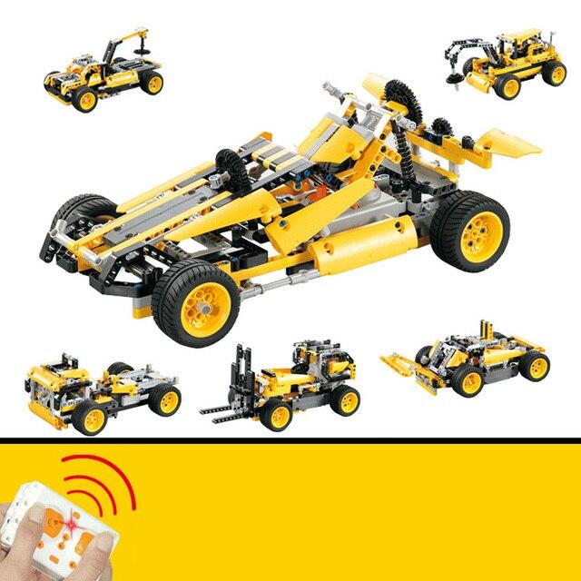 5 in 1 LEPIN Technic Series Blocks Bricks Toys Children Remote Control Race Cars Model Building Blocks Bricks Toys for Children