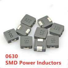 10pcs/lot 0630 SMD Power Inductors 1uH 2.2uH 3.3uH 4.7uH 6.8uH 10uH 15uH 22uH 33uH 47UH 7*7*3