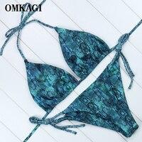 OMKAGI Brand Brazilian Bikini 2018 Swimsuit Women Swimwear Biquinis Sexy Push Up Crop Top Bikinis Set