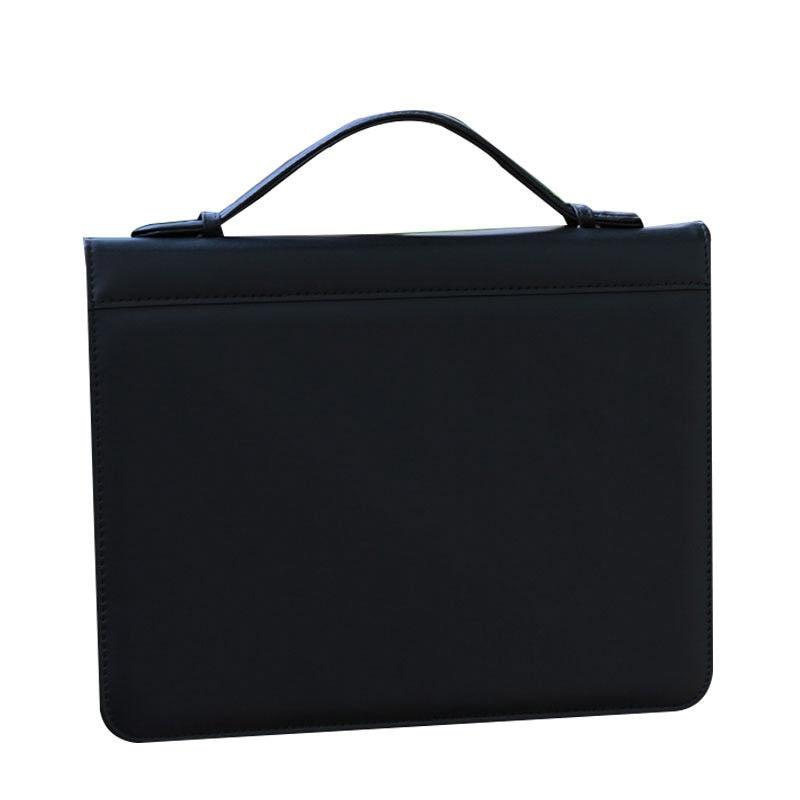 A4/lettre taille homme case-it multifonctionnel documents sac zipper PU cuir dossier portefeuille poignée porte-documents classeur