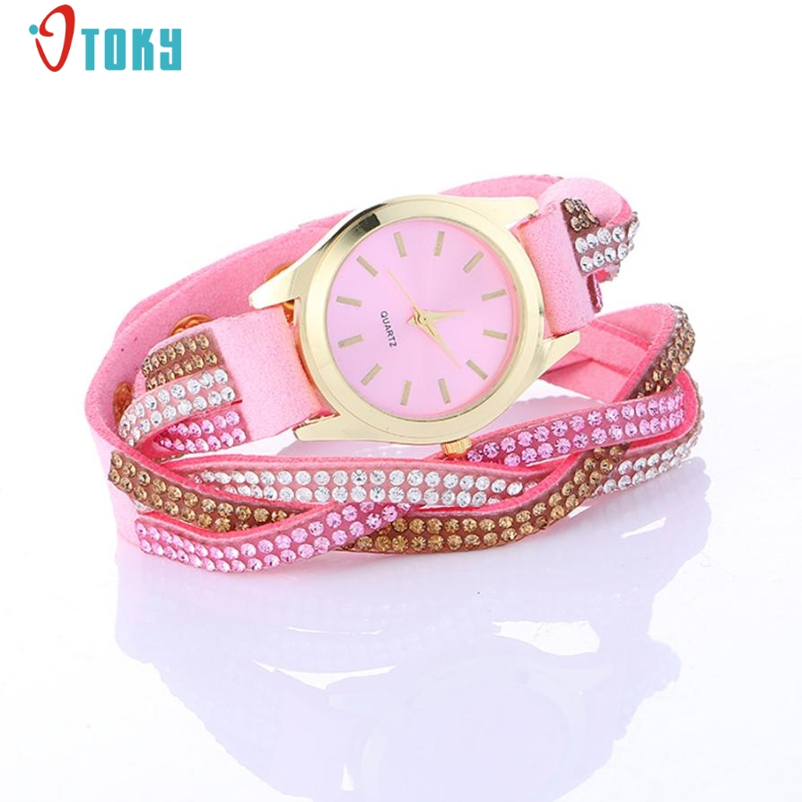 Relogio Feminino Wrap Around Fashion Watches PU Leather Bracelet Lady Women Wrist Watch  ...