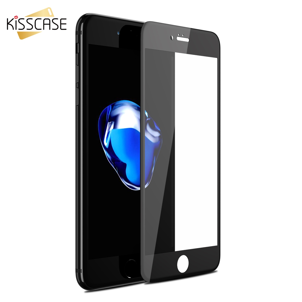KISSCASE Full Screen Protector For iPhone X 6 6s Plus 7 7 8Plus Case Red Tempered Glass 3D Film Full Cover Screen Tempered Glass image