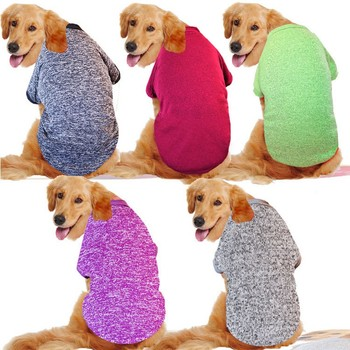 XXXL-9XL Big Dog Clothes Winter Large Size Pet Clothing Golden Retriever Dog Coat Shirt Solid Sweatshirt For Dogs Pets Costume