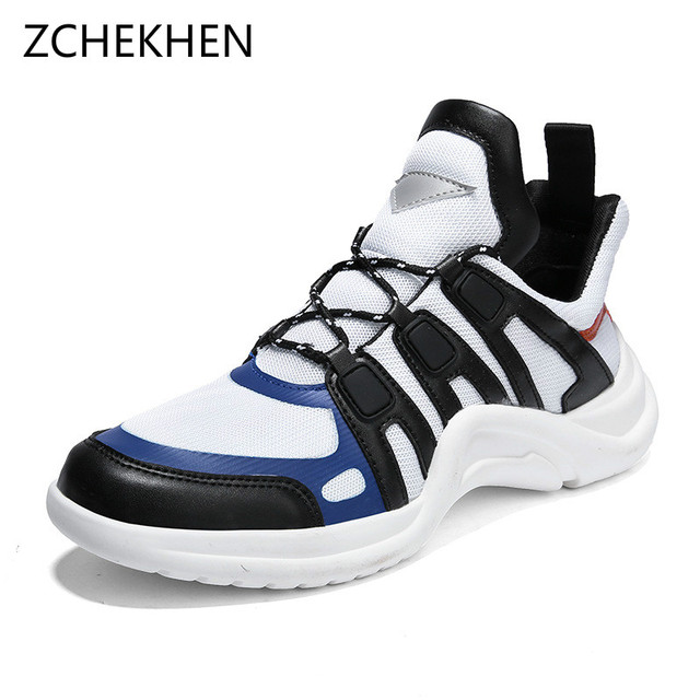 6e255f0b2b359 Vintage dad Men shoes 2018 kanye fashion west mesh light patchwork breathable  men casual shoes chunky