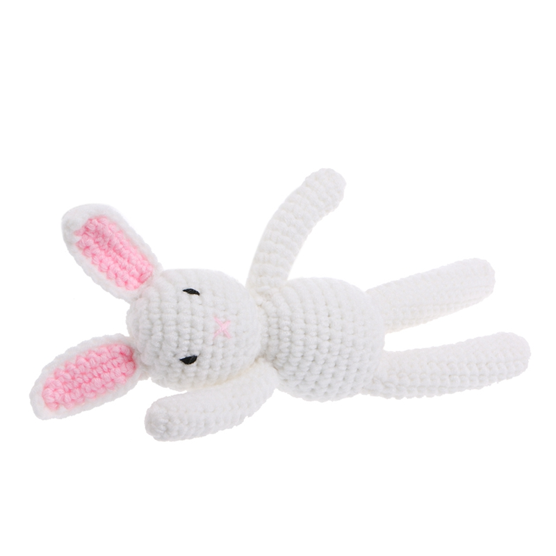 New 1Pc Newborn Baby Girls Boys Rabbit Photography Prop Photo Crochet Knit Toy Cute Gift