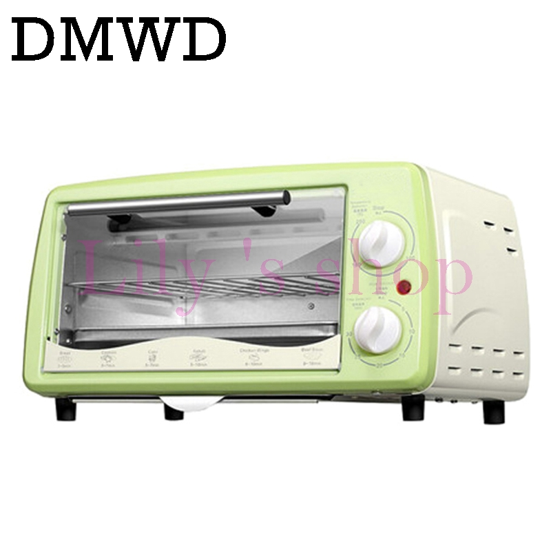 DMWD Mini household Electric oven Multifunction Pizza cake Baking Oven with 30 Minutes Timer Stainless Steel Toaster 12L kitchen appliances household baking mini oven 12l stainless steel housing glass electric oven cake toaster