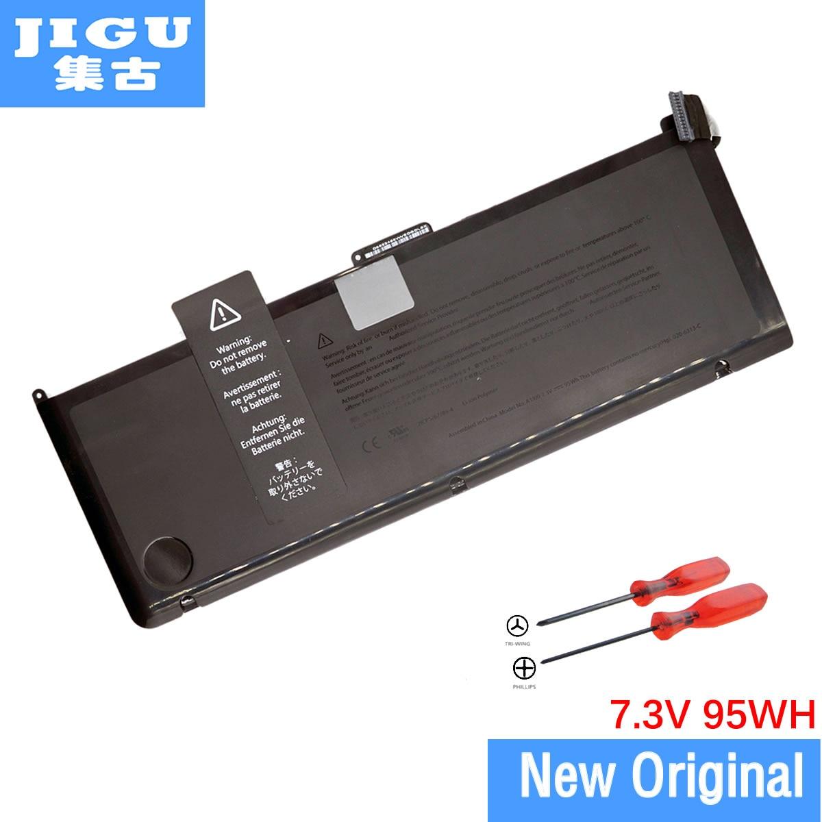 JIGU A1309 Original Laptop Battery For APPLE for MacBook Pro 17 A1297  [2009 Production] MC226*/A MC226CH/A 95WH 43w4342 44e8763 battery for mr10i mr10is original 95