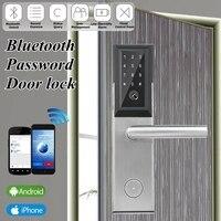 Bluetooth цифровой пароль смарт карта дверная замок сенсорная клавиатура экран Электрический замок для дома квартира гостиничный номер