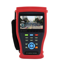 New 4.3 inch touch screen H.265 4K  IP Analog Camera CCTV tester Monitor with RJ45 cable TDR test, UTP Cable test