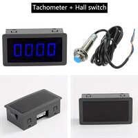 DC 8-15V Hall Proximity Switch Sensor NPN+ 4 Digital Red Green Blue LED Tachometer RPM Speed Meter 5-9999RPM