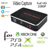 Sale HD Game Video Capture 1080P HDMI Recorder For XBOX One/360 PS3 /PS4 with One Click No PC Enquired No Any Set up in stock
