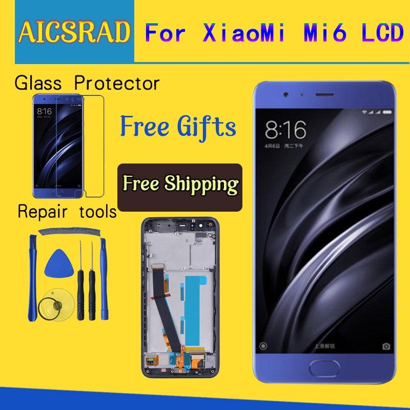 Per Xiao mi mi 6 mi 6 display lcd con Touch SCREEN Con Cornice Digitizer Assembly Nuovo Per 5.15
