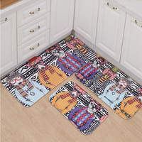 Indoor Porch Animal Cat Printed Bathroom Kitchen Door Anti Slip Mat Hot Sale