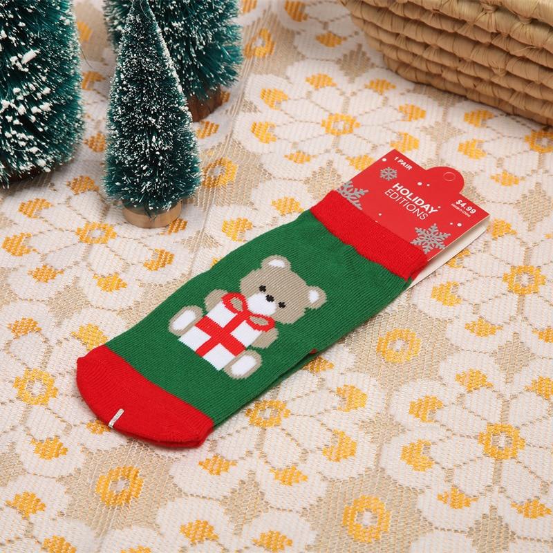 1Pair cotton Christmas children's socks Christmas baby socks Christmas socks autumn & winter explosions Student socks 5
