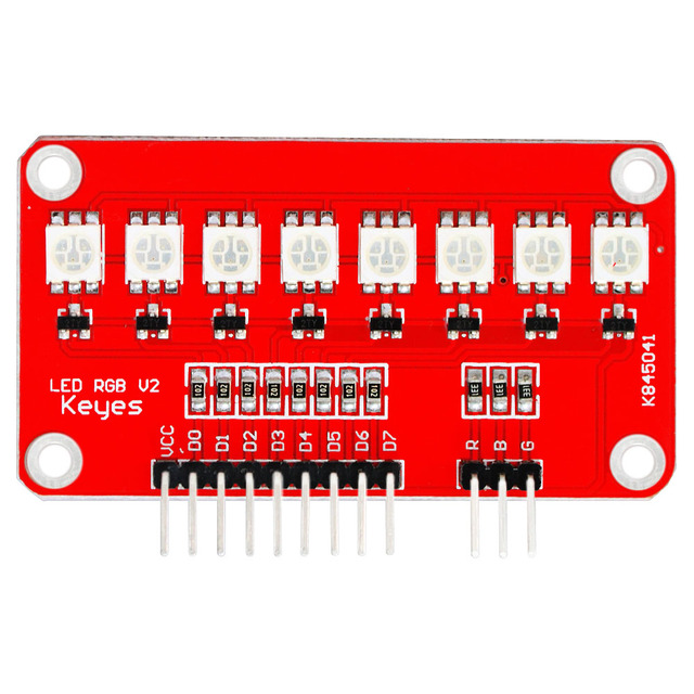 Free shipping! 2PCS Keyes Full Color L ED Module / RGB V2 SCM light water  for arduino