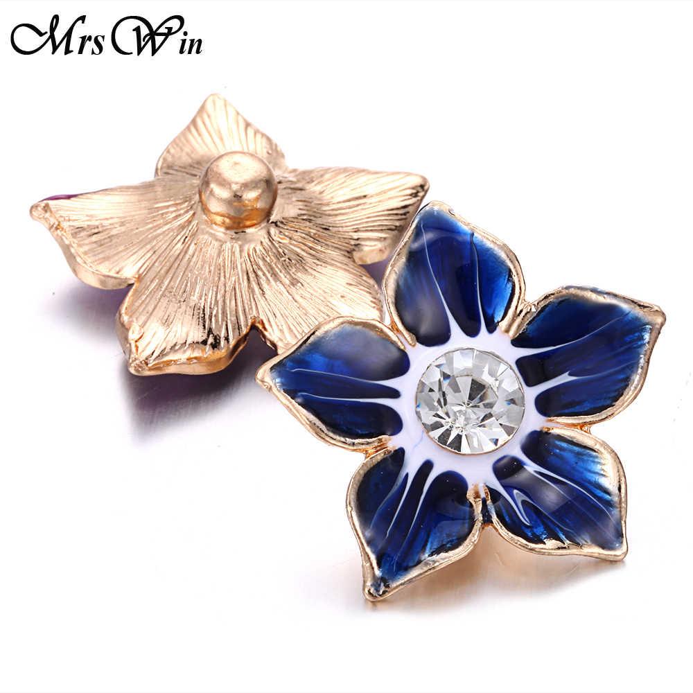 6 sztuk/partia nowy kwiat przystawki przycisk biżuteryjny 20mm 18mm metalowe zatrzaski Fit przystawki przycisk bransoletka bransoletka naszyjnik piękna biżuteria