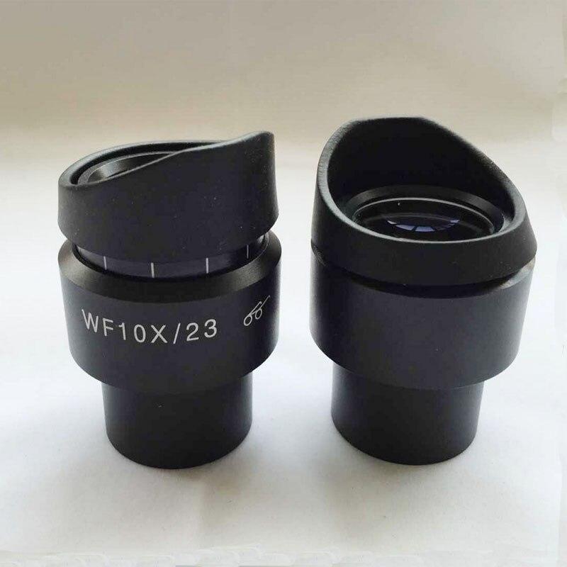 2шт Регулируемый WF10X /23мм стерео микроскоп окуляры высокое eyepoint широкоугольный объектив с защитой глаз Крепление 30мм