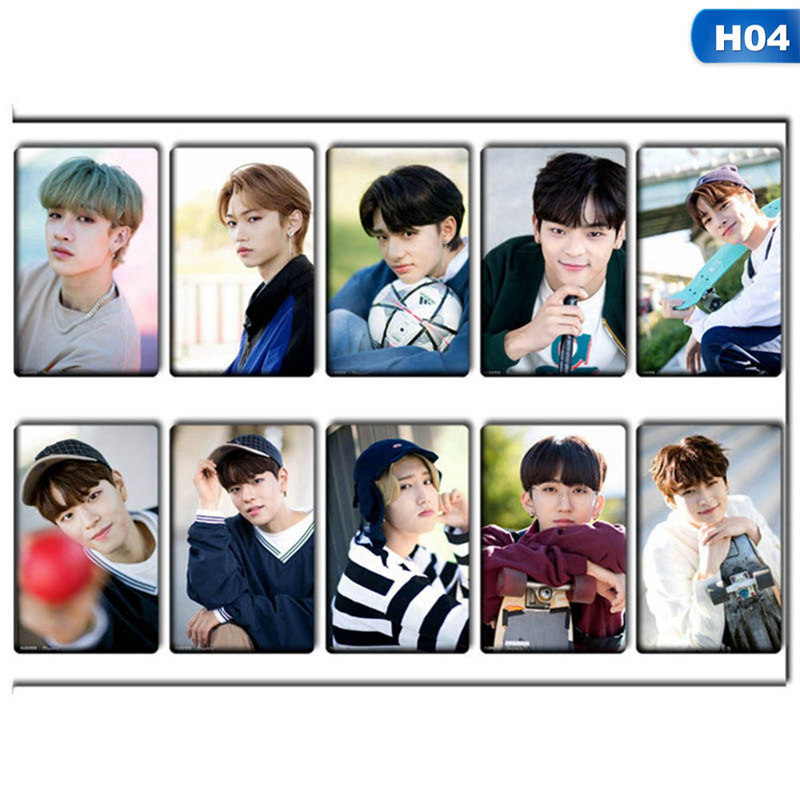 10pcs/Set KPOP Stray Kids Lomo Cards  Photo Card Stickers Photocard Poster Gift Stationery Set(China)