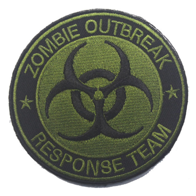 Patch Zombie Outbreak Response Team Patch tattiche Morale Hook & Loop - Arti, mestieri e cucito