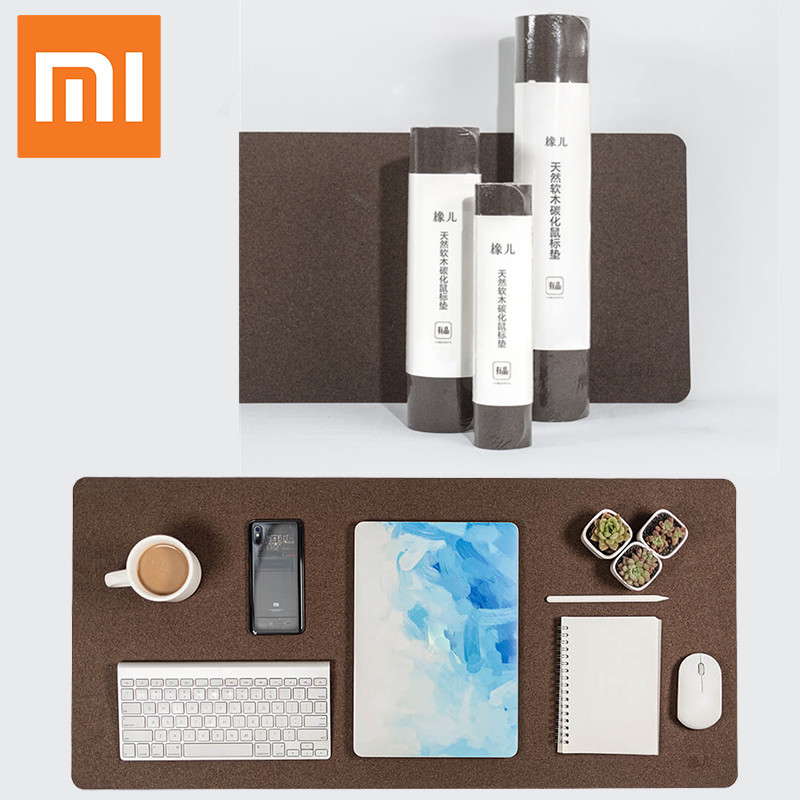 XIAOMI Mijia Big Large Thick Mouse Pad Computer Waterproof Desk Pad Laptop Oak Material Oil Resistance Mouse Pad Office Gaming