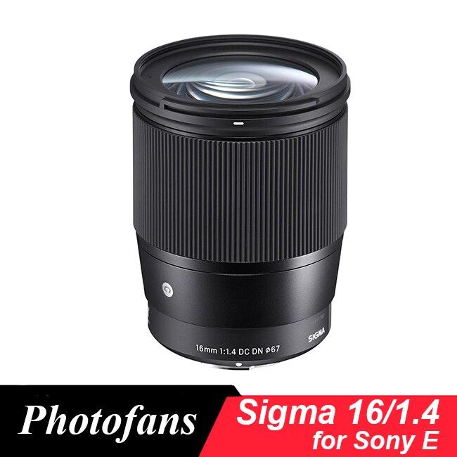 Sigma 16/1.4 Lentille 16mm f1.4 DC DN Contemporain Objectif pour Sony e-mount Caméras, noir A6500 A6300 A6000 A5100 A5000