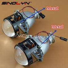 SINOLYN LHD/RHD Обновление Full Metal 2.5 Bi xenon HID Объектив проектор Фар Фары Линзы H4 H7, Использование H1 Ксеноновая Лампа Автомобилей укладки