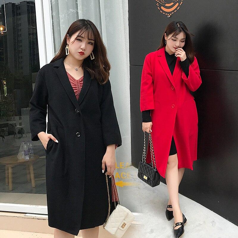 Laine Mode Cachemire Coréenne Rouge Hiver 018 Grande Taille Tricoté En Automne Femmes Et Pardessus De Long Nouvelle Manteau 506 Bq45w4R6Z