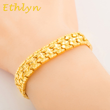 Ethlyn Cooper Jewelry Bracelet And Banglel Star design Gold Color Unisex Wide chain bracelet wholesale B008