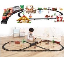 купить 2019 New Train Track Railway Trailer Track Accessory DIY Kids Toys Compatible legoeryg Duplo Building Blocks Car Christmas Gift дешево