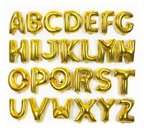 Aliexpress Buy 16inch 40cm gold capital letter A to Z option