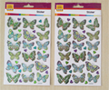 2 Sheet 60 pcs Beautiful Butterfly sticker Classic toy Animal sticker toy Cute Kid gril toy gift Students toy Cartoon sticker