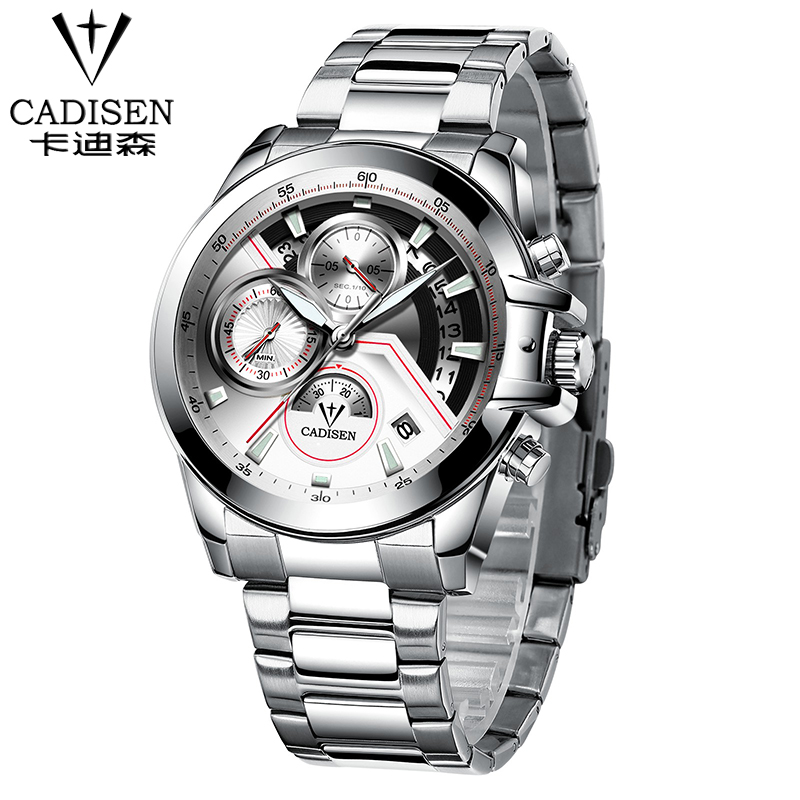 Stainless steel Fashion casual Quartz Watches Leather watch 2017 Luxury Brand watch Men analog chronograph Clock Sport Military weide casual genuine watch luxury brand quartz sport watches stainless steel analog men larm clock relogio masculino schocker